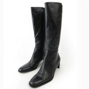 Etienne Aigner tall boots Black Real Leather 7.5